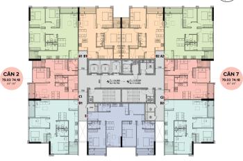 Bán cắt lỗ 300 triệu căn 2206 chung cư The Sun - Mễ Trì