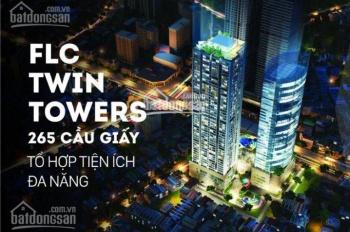 BQL cho thuê văn phòng FLC Twin Tower Cầu Giấy. Diện tích: 50 ~ 800m2, LH: 0938613888, 300ng/m2/th