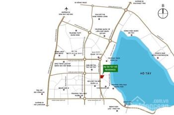 Căn hộ Tây Hồ Residence, mặt đường Võ Chí Công, 2,9 tỷ/căn 70m2, LS 0%, view hồ. LH 0869954863