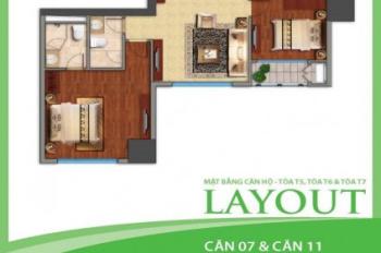 Cần bán nhanh căn hộ tòa T5 2 ngủ, 87m, ban công hướng nam, giá 3.1 tỷ, lh:0989645164