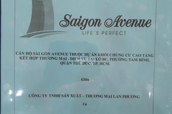 Chính chủ bán Sài Gòn Avenue 48m2 2PN, giá 1.25 tỷ, tầng sân vườn