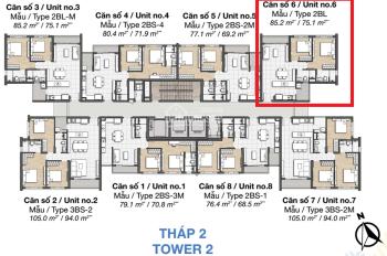 Căn góc view đẹp chính chủ cần bán căn hộ pAlm Heights T2#20.06