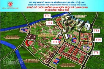 Bán lô biệt thự ô góc  TT3C  310m2 dự án Tây Nam Linh Đàm, lh 0972.97.97.17