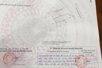 Bán nhà đất hai mặt tiền Trần Khát Chân, Hòn Xện, Vĩnh Hòa, Nha Trang - giá 39,5 tr/m2