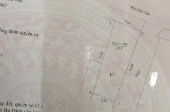 Cần bán nhà mặt phố Đội Cấn, DT 66m2, MT 14m, lô góc, xây 3 tầng, giá 300tr/m2