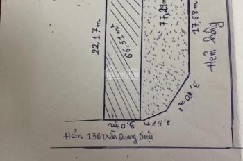 Cần tiền bán 2 căn liền kề hẻm 136 Trần Quang Diệu, Q. 3, HCM