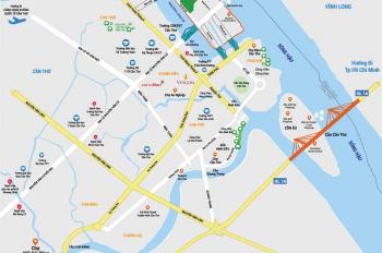 Bán đất nền Cồn Khương khu biệt thự ven sông Hàng đầu Cần Thơ Eco Villas, LH Dương 0985253293