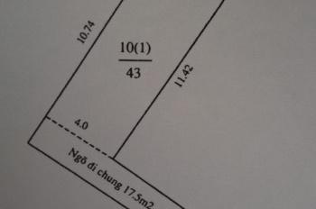 Bán mảnh đất 43m2 ở ngõ 230 Định Công Thượng. Đất sạch, nở hậu, sổ đỏ chính chủ không quy hoạch