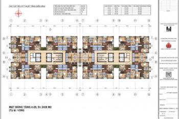 Bán căn hộ 3PN - 95m2/100m2 thuộc dự án Lạc Hồng Lotus 2 (N01-T1) khu Ngoại Giao Đoàn