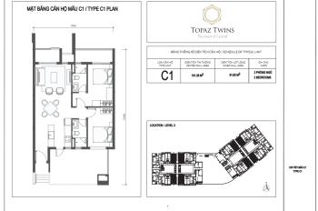 Bán căn hộ Topaz Twins, 2PN, giá chênh 150tr, 082 506 7777 - Mr Nam