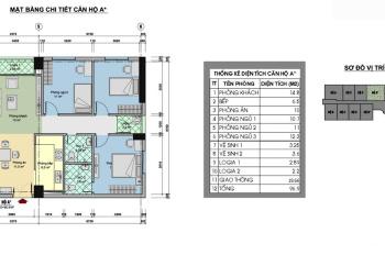 Cần bán căn hộ 88m2 (3 ngủ) sổ đỏ, giá 2 tỷ 150 triệu (bao phí sang tên sổ)