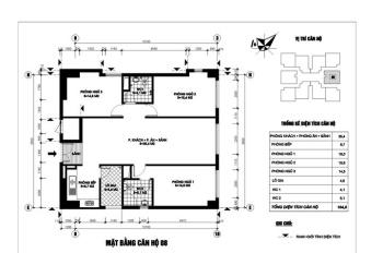 Bán chung cư N03T1 Ngoại Giao Đoàn căn hộ 3 phòng ngủ giá 2,8 tỷ, LH 093 198 3636