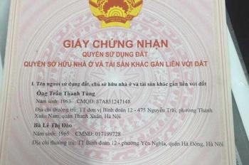 Chính chủ cần bán đất thổ cư số 104 khu B TT Binh đoàn 12, Lĩnh Nam, Hoàng Mai, HN