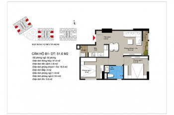 Chính chủ bán chung cư 2 phòng ngủ tại Hateco Xuân Phương - Nam Từ Liêm - Hà Nội