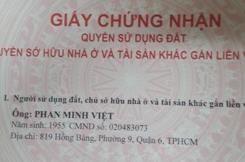 Bán nhà mặt tiền đường Hồng Bàng, phường 9, quận 6, TP. HCM