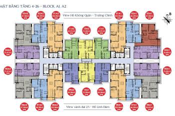 Không có nhu cầu ở bán gấp CC 176 Định Công Sky Central tầng 1607, 66.39m2, 1.8 tỷ, 0976807257