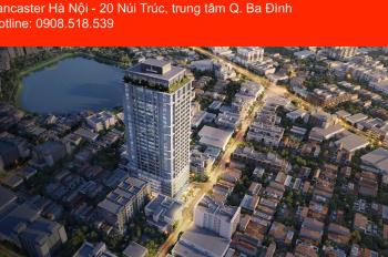 Bán chung cư Lancaster Hà Nội trung tâm Q. Ba Đình, căn hộ 4PN tầng cao, view thoáng đẹp, SL có hạn