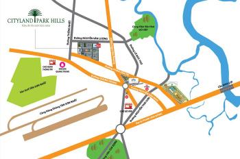 Bán đất nền Cityland Park Hills đường Phan Văn Trị, gần Emart Gò Vấp giá tốt, LH 0944589718