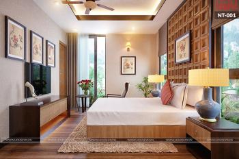 Cho thuê nhà riêng đẹp phân lô An Dương - Nghi Tàm, 60m2*5T gara ô tô hai mặt ngõ, thiết kế 2 PN