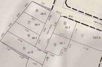 Mở bán 7 lô đất hẻm 380 Cây Trâm, Gò Vấp 1.5 tỷ/nền, SHR, bao sang tên, XD ngay 0965304041