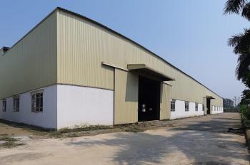 Cho thuê 6000m2 nhà xưởng và 700m2 kho bãi mặt đường Quốc Lộ 5, địa phận Hưng Yên