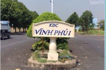 Kẹt tiền sang gấp đất 116m2 KDC Vĩnh Phú 1, P Vĩnh Phú giá 18 triệu/m2 SHR DT 6x19,3m. 0906.349.031