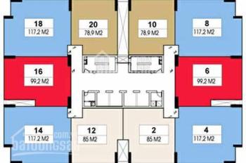 Bán căn hộ Rainbow Văn Quán 120m2, thiết kế 3PN, 2WC, sổ đỏ chính chủ, lh 0972979717
