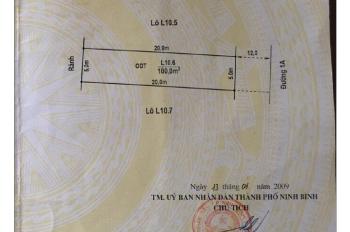 Cần bán lô đất L10.6 đường 30/6 (QL 1B), phố Phúc Trì, P. Nam Thành, TP Ninh Bình, T. Ninh Bình