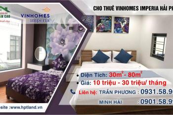 Cho thuê Vinhomes Imperia, căn hộ cao cấp 9tr - 15tr/tháng 1 - 2 phòng ngủ, full nội thất tiện nghi
