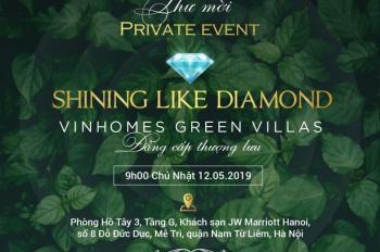 Kính mời quý khách tham dự lễ mở bán siêu biệt thự Vinhomes Green Villas - Hotline: 0918.60.6666