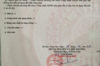 Chính chủ bán gấp 300m2 đất vuông vức, mặt tiền đường Phạm Hùng, TP. Bà Rịa