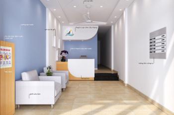 Cho thê Nhà nguyên căn (1trệt + 2 lầu + sân thượng) làm văn phòng 135 Nguyễn Hữu Cảnh, giá 25 triệu