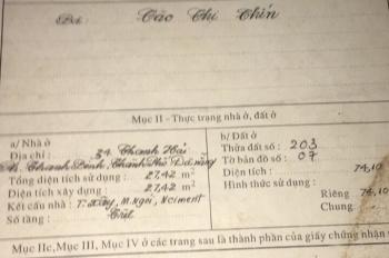 Chính chủ cần bán gấp lô đất mặt tiền đường Thanh Hải, Hải Châu, LH: 0903.55.11.75