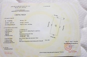 Chính chủ cần bán 756m2 đất mặt tiền đường Cát Vũ, khu dân cư Tân Vũ, P. Tràng Cát, LH 0845936678
