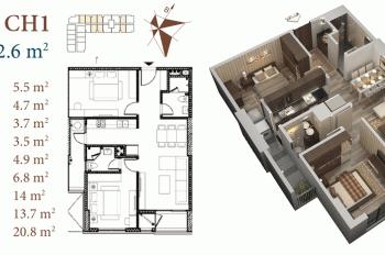 Chính chủ cần bán căn hộ chung cư Roman Plaza, Tố Hữu tầng 1016B, DT 77m2, giá 1,9 tỷ (0968088365)