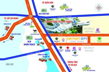 Mở bán đất nền sân bay KĐT Long Thành Airport City, giá 600tr/nền, sổ hồng riêng, thổ cư 100%