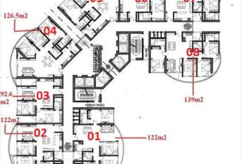 Bán căn hộ 04 chung cư N01T8 Ngoại Giao Đoàn, 130.1m2, 3 phòng ngủ, view hồ điều hoà, 37 tr/m2
