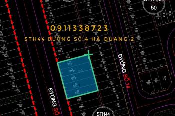 Bán đất khu đô thị Lê Hồng Phong 2, đường Số 4, lô sạch, giá rẻ. Liên hệ: 0911338723