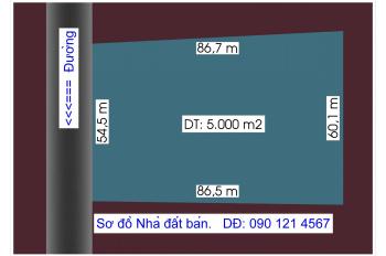 Bán trang trại + biệt thự DT: 60m x 85m - 5.000m2 giáp sông Đồng Nai và gần Phim trường Quận 9