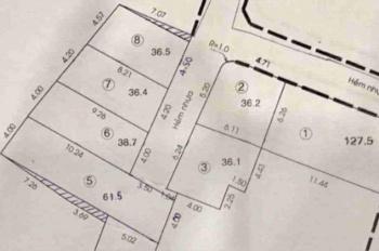Cần bán gấp 7 lô đất hẻm 380 Cây Trâm, Gò Vấp, 1 tỷ 4/nền, SHR, bao sang tên, XD ngay