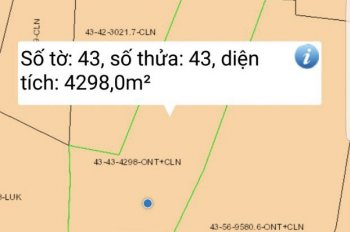 Chính chủ cần bán lô đất 4298m2 thửa số 43 Sông Nhạn, Cẩm Mỹ, Đồng Nai, 980.000/sào, 0975033936