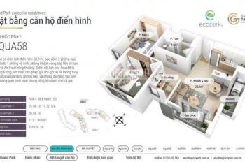 Bán căn hộ chung cư (Aquabay - Ecopark) diện tích 58m2 giá cực tốt, LH: 0345.94.1133