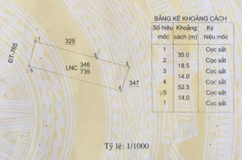 Bán đất mặt tiền 14m Tỉnh Lộ 765 cách ngã tư Sông Rai 500m