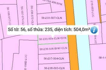 Bán đất xã Phú Hữu, đường 2 xe tải tránh nhau, giá 1,7 tỷ/504m2, giá rẻ đầu tư sinh lời cao