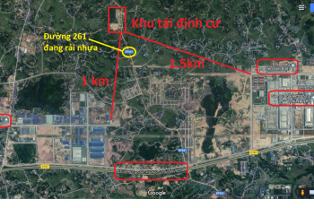 Bán gấp lô đất Đường Tỉnh lộ 261, Xã Điềm Thụy, Phú Bình, Thái Nguyên (gần Samsung)