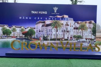 Độc quyền phân phối Crown Villas Thái Nguyên, ưu tiên chọn căn, ưu đãi khủng. LH: 0963 179 333