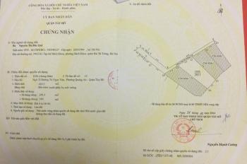 Bán nhà đất xây khách sạn căn hộ, DT 1100m2, mặt tiền 40m, ngõ ô tô vào phố Tô Ngọc Vân, Tây Hồ, HN
