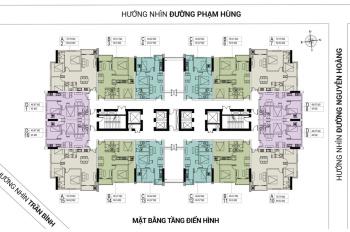 Cần bán căn hộ chung cư FLC 18 Phạm Hùng, tầng 1606 DT 60.6m2, giá bán 25tr/m2. LH 0979449965