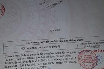 Bán nhanh đất 16x25m =404m2, thuộc phường Thạnh Phước, Tân Uyên, Bình Dương