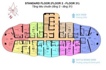Căn hộ cao cấp Azura 3 phòng ngủ, vị trí đẹp, view góc rộng (sông Hàn, thành phố) 0906.427.387